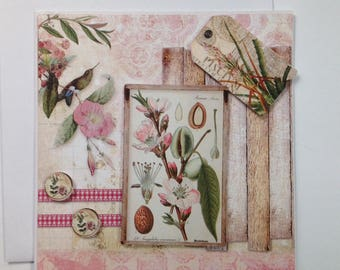 Handmade card, 3D, curio cabinet, all occasions