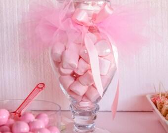 Candy Dish Tutu, Tutu For Candy Jar, Jar Tutu, Ballerina Party, Tutu Party, Tutu Skirt for Beverage Dispensers, Tutus, Tutu Table