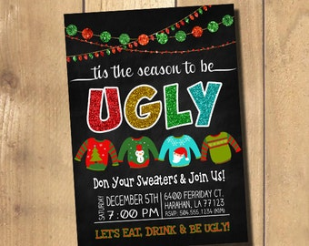 Ugly sweater invitation ugly sweater party invitation ugly ugly sweater invitation ugly sweater party invitation ugly christmas sweater invitation ugly christmas stopboris Choice Image