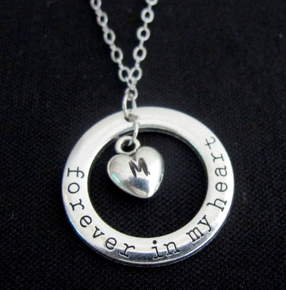 Forever in my heart necklace You're Forever In My Heart Necklace or Key Chain Mom gift, girlfriend gift, gift for her Free Shipping USA