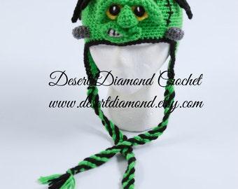 Crochet Pattern 109 - Frankenstein Monster Hat