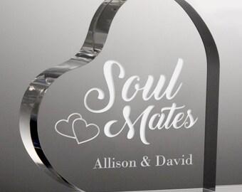 Soul Mates Personalized Heart Acrylic Keepsake