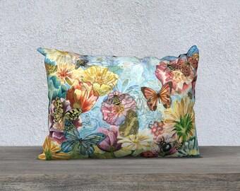 Busy Bee Garden Pillow Cover