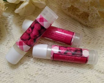 Raspberry Lip Balm~Raspberry Lip Gloss~Raspberry~Organic lip balm~Raspberry Flavor Lip Balm~Flavored Lip Balm~