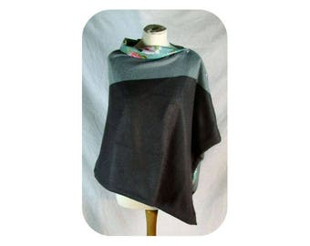 Grey and Blue Cape/Wrap