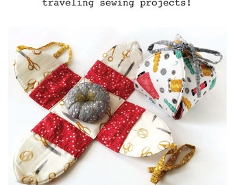Blooming Lotus Sewing Kit DIGITAL PATTERN - The Perfect Carry-All for your Traveling Sewing Projects