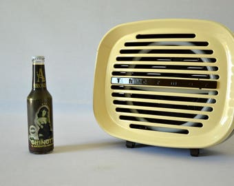 Design lamp from an old radiator of 60s/70s through upcycling Thermor brand vintage