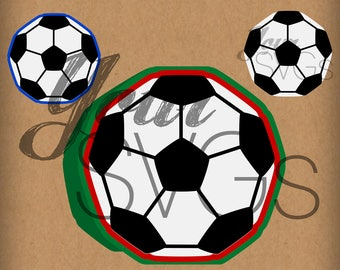 SVG Football Soccer Card - Layered Images for Electronic Die Cutting Machines - Sports - Crafts - Cards - Cutting File - Shaped Card