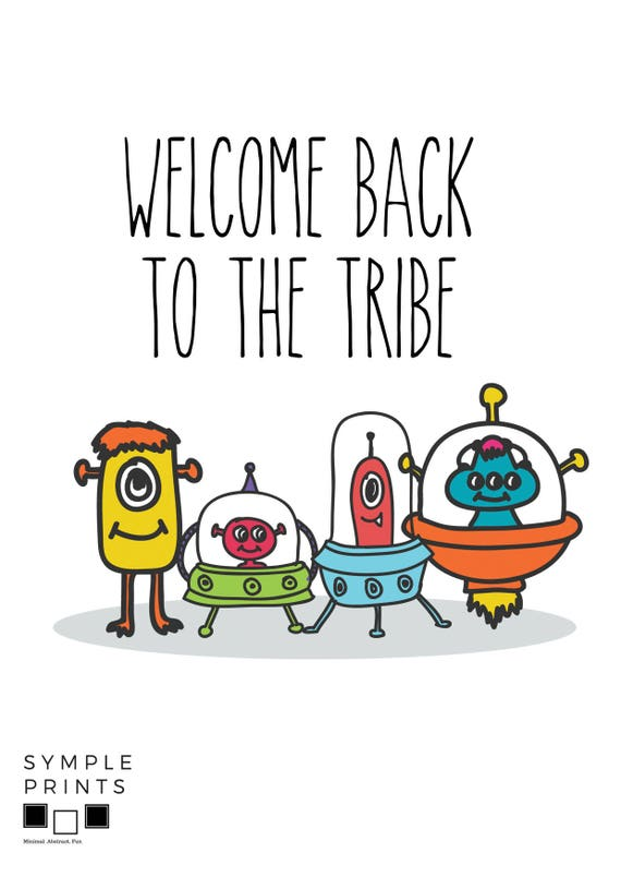 printable alien welcome home cards welcome back dad greeting rh etsy com Welcome Home Coloring Pages Funny Welcome Home Signs