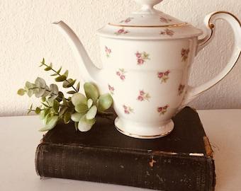 Vintage China Teapot, Noritake, Shabby Chic Decor, Cottage Decor