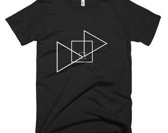 Triangles Stylish T-shirt, Unisex T-shirt, Men's T-shirt, American Apparel Crew Neck, unique T-shirt,100% Cotton,  Made in the USA