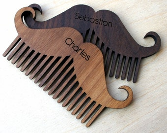 Wooden Beard Comb - Hipster Dad gift - Father's Day gift - Beard grooming personalised gift - Personalised beard gift - wooden mustache comb