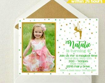 Fairy Photo Invitation // Tinkerbell Photo Invitation // Fairy Birthday // Fairy Party // Fairy Birthday Photo Invitation // Fairies