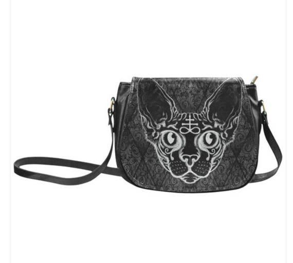 Black Cat Saddle bag