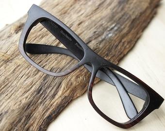Customize Walker2014 Handmade  Large size Square Ebony Wooden Eyeglasses Wood Sunglasses XXL Frame