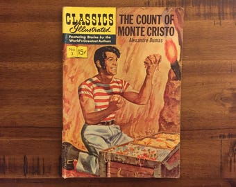 1964 Classics Illustrated #3 Comic Book / GD-FR / The Count of Monte Cristo / Alexandre Dumas / HRN 135