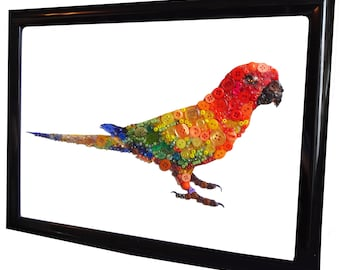 Bright Tropical Parrot