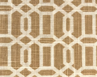 REMNANT FABRIC:  Camel Geometric Fabric REM-40