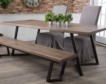 Arkwright Industrial Steel Dining Table
