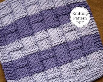 KNITTING PATTERN-Playing with Bamboo, Dishcloth Pattern