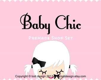 Baby Chic - Premade Etsy Shop Banner set