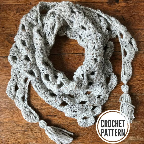 Arcade Triangle Scarf Pattern Only. Triangle Scarf Crochet