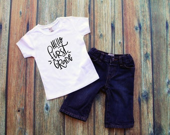 Hello First Grade Shirt /  first day of school, first day shirt, first grade shirt, school shirt, back to school shirt