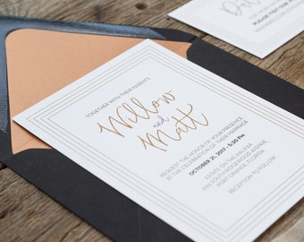 Willow Suite -Wedding Invitation Suite, Modern Wedding Invites, Formal Invitation Set, Simple invitations, Classic wedding invitations
