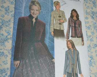 Butterick 4028 Misses / MIsses Petite Jacket Sewing Pattern - UNCUT - Size 12 14 16 Fitted, lined, hip-length jacket has princess seams