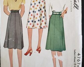 1942 McCall Sewing Pattern 4767, 30 waist