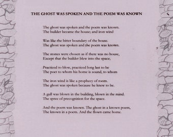 The Ghost Was Spoken and the Poem Was Known