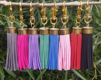 20 bore tassel keyring for boots, bags and keys. Free shipping