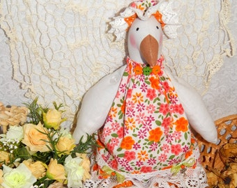 Easter Goose, textile goose, Tilda goose toy, Fabric Goose, Spring Goose, Home decor, Easter Goose, Easter Decoration