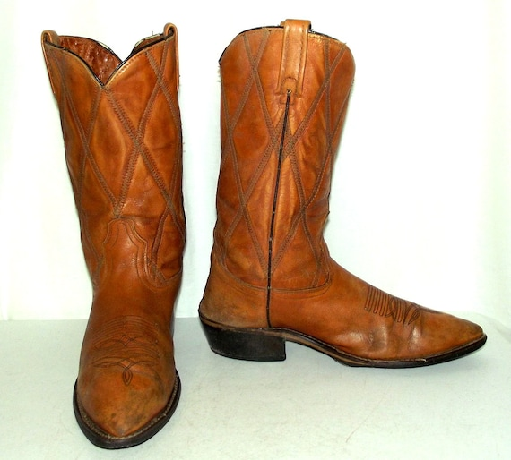 10 Narrow 5 Cowboy size Acme 9 Vintage Tan size B Boots 5 womens wear mens western 7fC7Bnz