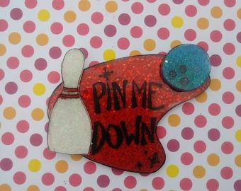 Pin Me Down Mid Century Modern Bowling Brooch
