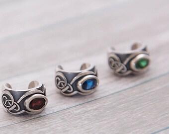 Silver ear cuff | Celtic ear cuff | Ornamental ear cuff | Celtic Mists | Small Earcuff