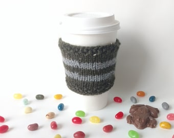 Harry Potter Knit Coffee Cup Cozy Slytherin House Sleeve To-Go Cup / Teacher Neighbor Friend Family Gift Present Stocking Stuffer