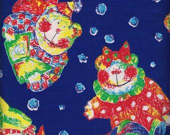 P&B Fabrics Scribble Bears by Jennifer Sampou 100% Cotton Fabric Yardage OOP out of print