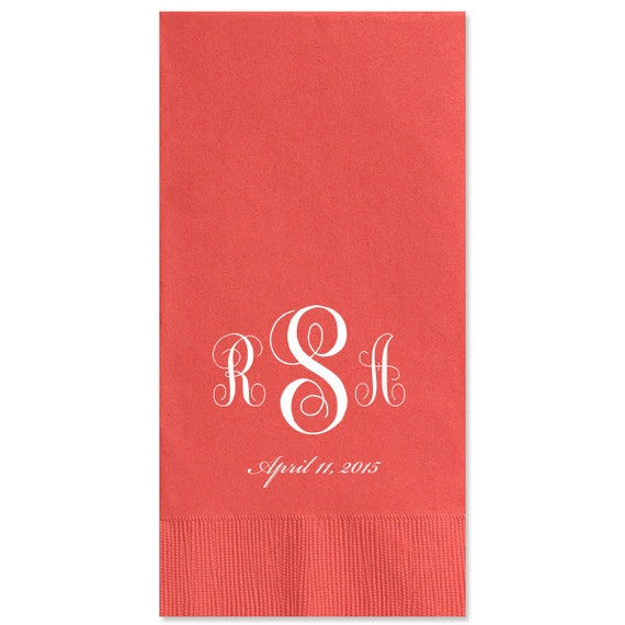 100 Personalized Guest Towels Dinner Napkins Wedding Paper
