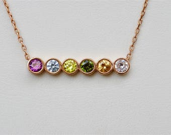 mothers ring necklace family itm pendant birthstone o gold ebay