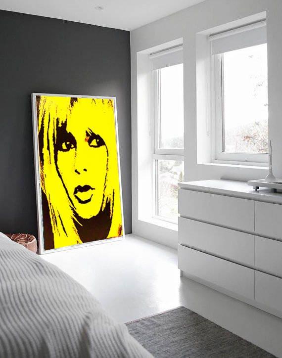 Brigitte BARDOT Canvas Print Bardot Print Huge Wall Art