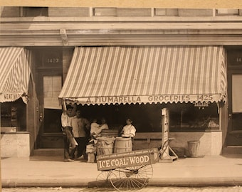 1916 Flatbush Nostrand Ave Brooklyn New York Photo Print A. Fiumarella Groceries NYC