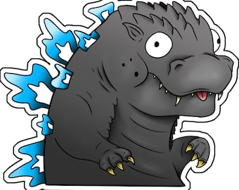 Cute Godzilla/Kaiju Stickers - Godzilla, Anguirus, Titanosaurus, Gamera, Ghidorah