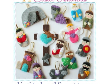 14 Easter Lent Ornaments PATTERN • 14 Ornaments based on Passion Week • Simple Family Easter Craft Project • Pattern •