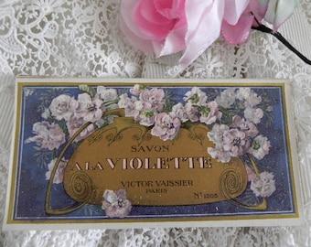 Antique label soap, VICTOR VAISSIER, 1900's