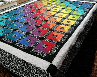Handmade Quilt, 92 x 68 fits twin size bed