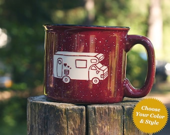 RV Camper Van Mug - Choose Your Cup Color