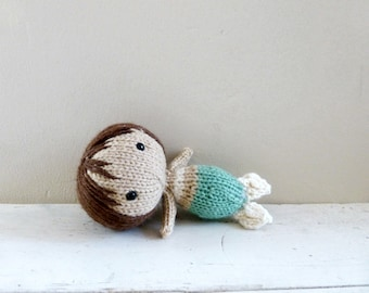 Cute stuffed animal, Mermaid Doll, Baby Doll, Ready to Ship - Mermaid Willa