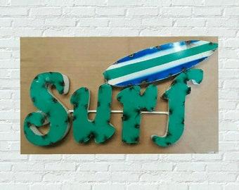 Metal Surf signs.surf signs. beach decor. beach signs. surfer signs. surfer decor. surfing signs. surfing decor. surfing. pool signs