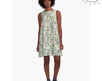 Rabbit Dress for Women, Rabbit Pattern Dress, Rabbit Dress, Bunny Dress, Bunny Rabbit Dress, Cute Bunny Dress, Rabbit Clothes for Women